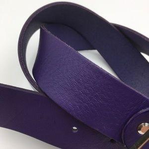 Leather Purple Belt by .Opasky Jurca.